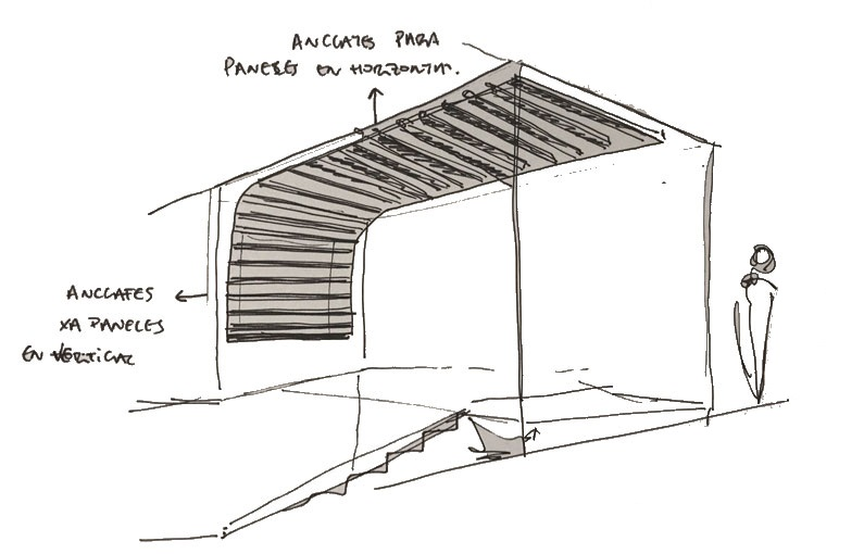 Lamas de madera spigoline Centro Formación Canario 6